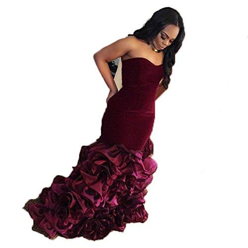 Velvet Strapless Gown - 8