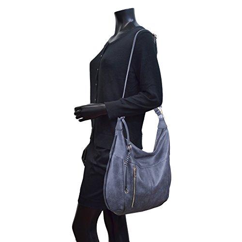 Vegan Hobo 3372 lady handbag winter Designer leather colors Shoulder MKP Grey Dark for bag Purse Collection Stylist ExvwqqC4R