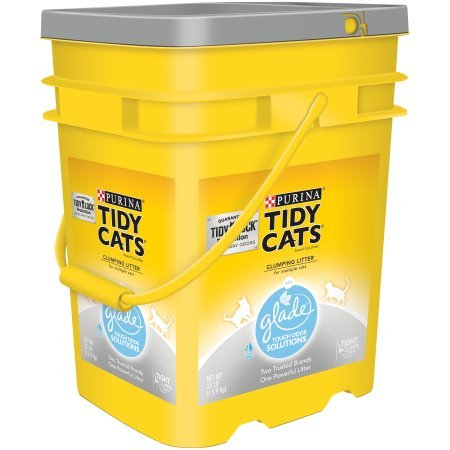 Purina Tidy Cats 35 lb. Pail Clumping Cat Litter with Glade Tough Odor Solutions Clear Springs for Multiple Cats (3 Packs) by Purina