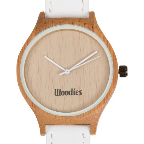 WOODIES White Bamboo Wood Watch