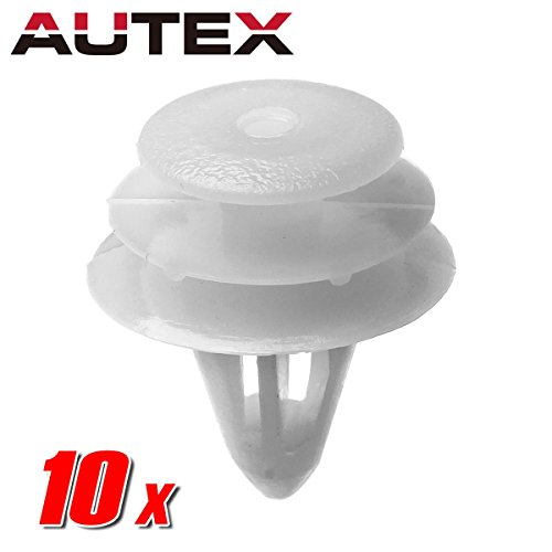 AUTEX 10pcs Door Trim Panel Fastener Rivet Push Clips Retainer Nut Replacement for Nissan 350Z Altima Hybrid Frontier Maxima Pathfinder Quest Sentra Titan Xterra