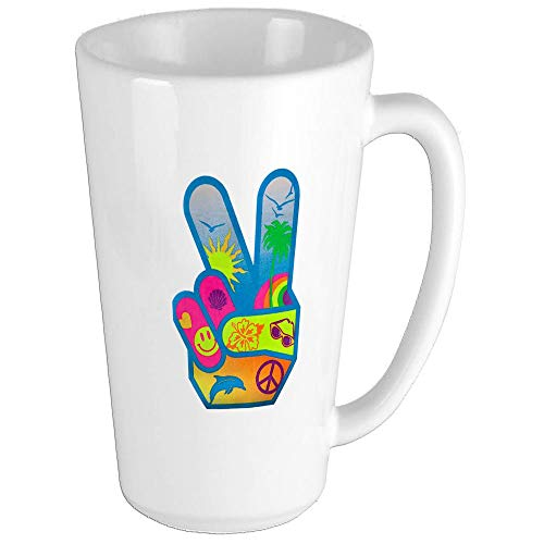 Peace Sign Symbol Dolphin Smiley Face Funny Coffee