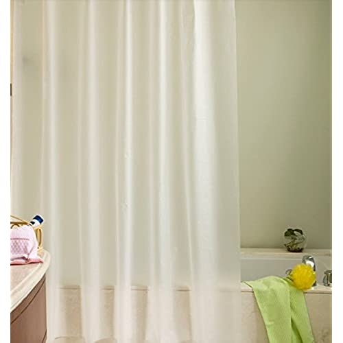 Ufriday Water Repellent Shower Curtain Liner Free Of PVC Large Size With Reinforced Metal Grommets Solid Bathroom Mildew Non Toxic