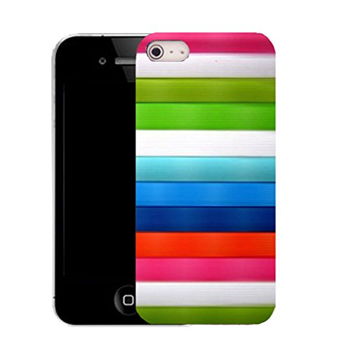 Mobile Case Mate IPhone 4 clip on Silicone Coque couverture case cover Pare-chocs + STYLET - tranquil pattern (SILICON)