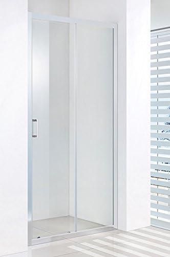 Puerta Ducha Puerta Corredera de cristal 6 mm transparente aluminio cromo h.185 Brenda: Amazon.es: Bricolaje y herramientas
