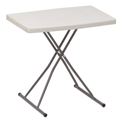 Iceberg 65490 IndestrucTables Too 1200 Series Resin Personal Folding Table, 30 x 20, (Iceberg Contemporary Table)