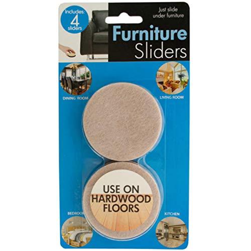 Large Furniture Sliders Set - 20/Pack (1 Pack) by bulk buys (Image #1)