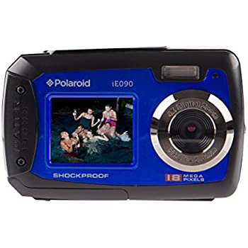 Amazon.com : Polaroid IE090-BLU Waterproof Digital Camera with 2.7 ...