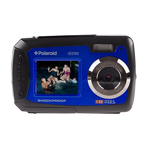Polaroid IE090-BLU Waterproof Digital Camera with 2.7″ LCD (Blue)