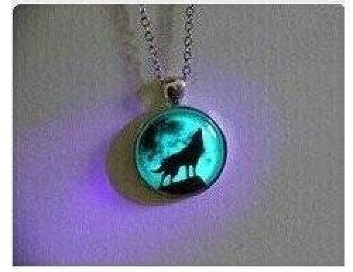 Moon Wolf Necklace Glow in the Dark After Uv Absorption Necklace Noctilucent Necklace Friendship Love Gifts Unique Lovers Gifts