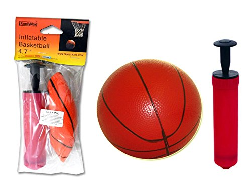 NEEDLE ON CAP PUMP+BASKET, BALL+NEEDLE/DARK ORANGE+PUMP RED, B , Case of 144 by DollarItemDirect