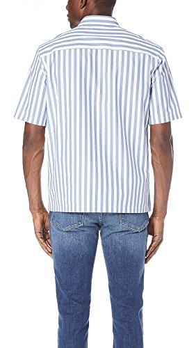 Theory Men's Brunner Lounge Stripe Shirt, Tidal, Medium by Theory (Image #2)
