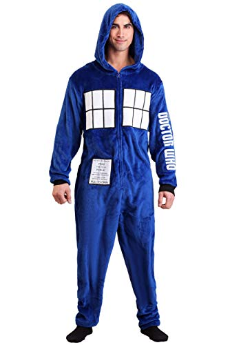 MJC International Group, LLC Doctor Who Adult Tardis Union Suit Large/X-Large Blue