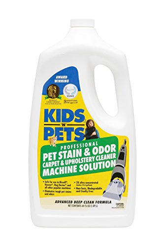 KIDS N PETS - Pet Stain & Odor - Carpet & Upholstery Cleaner Machine Solution - 64 oz   Professional Strength Formula Deeply Cleans Carpet & Upholstery   Non-Toxic & Child Safe