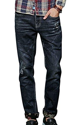 Deep Blue Wash Straight Jean - 2