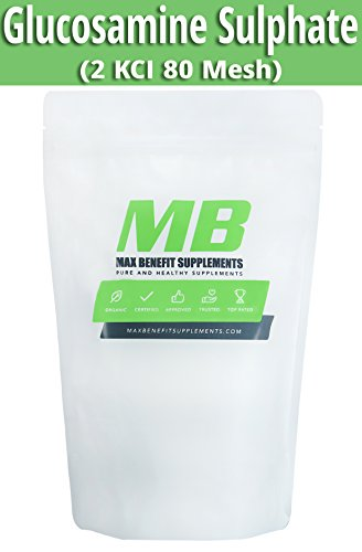MaxBenefitSupplements - Glucosamine Sulfate Potassium Powder Unflavored Verified Pure Joint Aid 1kg ()