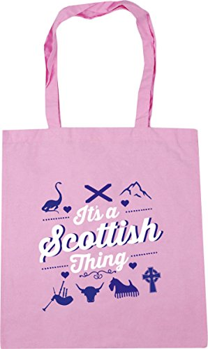 It's Bag litres Tote Pink Scottish a 42cm x38cm 10 Shopping Gym Classic HippoWarehouse thing Beach d78axwaHn