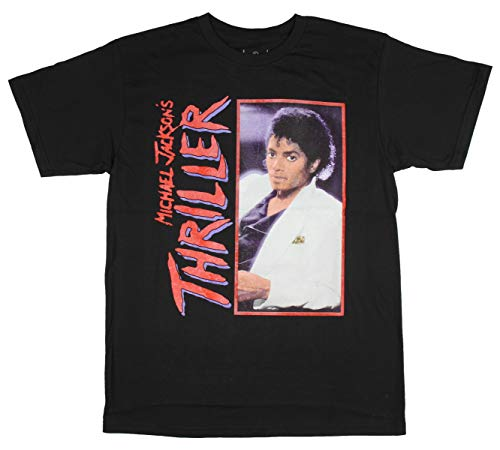 Fashion Michael Jackson Thriller Black Graphic T-Shirt - Medium