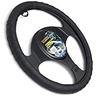 Motorup America Leather Steering Wheel Cover - Fits Select Vehicles Car Truck Van SUV - Solid
