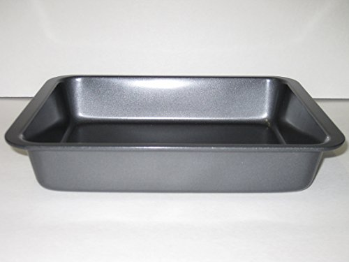 Toaster Oven Roaster Pan 9 1/2 x 7 1/16 x 1 1/2 Inches Outside Measurements (Small Oven Cookware compare prices)
