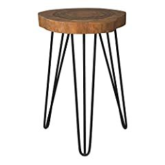 Our secret is simple-natural style. The eversboro accent table flawlessly merges natural finished wood with angular black finished metal legs. Faux live edge on the tabletop pushes boundaries to bring the outside Inside.