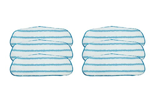 LTWHOME Wet Mop Pad Fit for Dirt Devil Steam Mop,Compare to Part AD51000 (Pack of 6) by LTWHOME