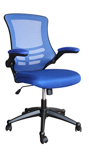 Eliza Tinsley Furniture Luna Mesh Chair With Folding Arms - Blue