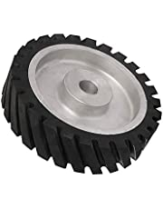 10 Inch Serrated Rubber Belt Grinder Contact Wheel Rubber Wheel Contact Wheel Aluminum for Polishing 商品名称