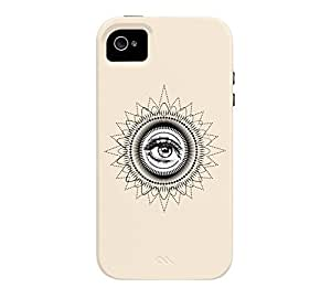 Mandala iPhone 4/4s Antique white Tough Phone Case - Design By Humans