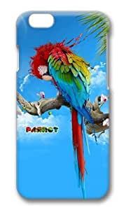 MOKSHOP Adorable Beautiful parrot Hard Case Protective Shell Cell Phone Cover For Apple Iphone 6 (4.7 Inch) - PC 3D