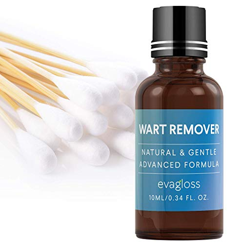 Evagloss Wart Removal, Penetrates and Removes Common and Plantar Warts, Wart Remover Liquid, Common and Plantar Warts Treatment