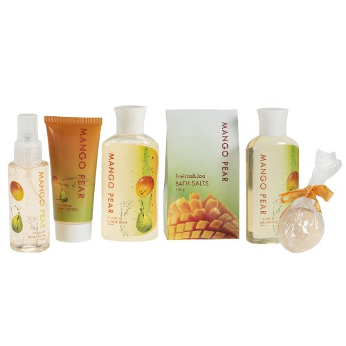 Rustic-Beauty-Mango-Pear-Gift-Set-for-Women-Exotically-Scented-Collection-Including-Shower-Gel-Bubble-Bath-Bath-Salt-Body-Lotion-Body-Spray-and-Bath-Fizzer