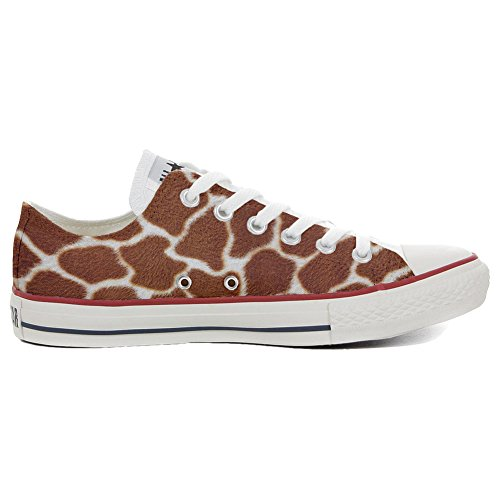 8a09ab27637a Converse Women s All Star (Shoes Customized) Hand Hand Hand Printed Italian  Style Slim Giraffa Size 41 EU 7