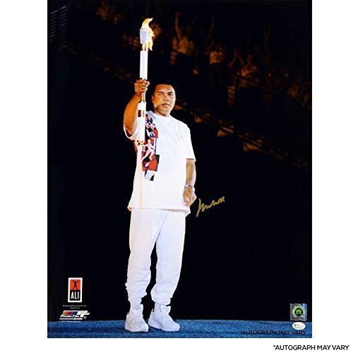 Muhammad Ali Online Autographed Signed 20 X 24 1996 Olympic Torch Photograph - Certified Signature