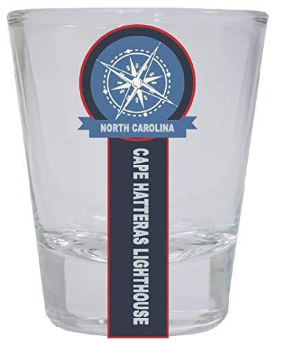 Cape Hatteras Lighthouse North Carolina Nautical Souvenir Round Shot Glass