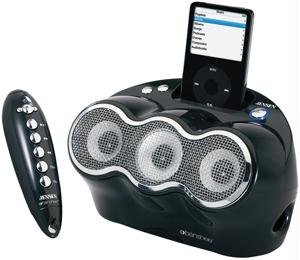JENSEN JISS-330-BK BANSHEE 3-SPEAKER UNIVERSAL IPOD® DOCKING DIGITAL MUSIC SYSTEM WITH REMOTE (Digital Ipod Docking Music System)