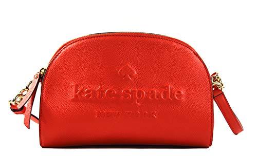 Kate Spade Tori Larchmont Avenue Logo Leather Women's Small Crossbody Bag Purse Handbag (Picnic Red)