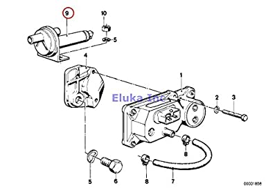 BMW Genuine Carburetor Fuel Injection Additional Air Slide Valve 320i