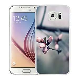 Nuevo diseño de Samsung Galaxy S6 libro Carcasa para móvil con Macro rosa árbol de Sarah ehlinger Flowers_White funda