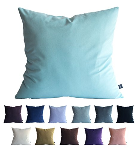 Kdays Faux Suede Light Blue Pillow Cover Throw Pillow Cover