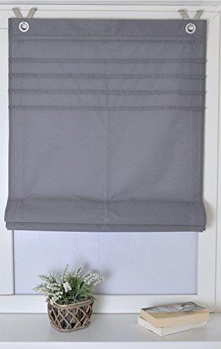 Raffrollo / Ösenrollo Kessy Biese grau 80*140 cm