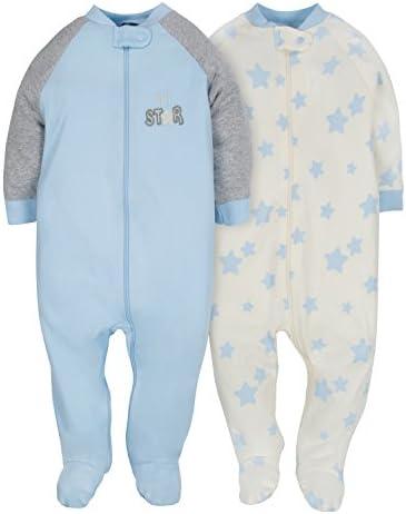 Gerber Baby Boys 2Pack Organic con cierre frontal Sleep 'n Play