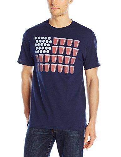 Ptshirt.com-18903-Freeze Men\'s American Flag Beer Pong T-Shirt-B01GK830UW-T Shirt Design