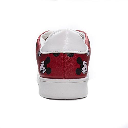 Disney Junior Teen Mädchen Low Top Mickey und Minnie Fashion Sneakers (siehe mehr Designs und Größen) rot