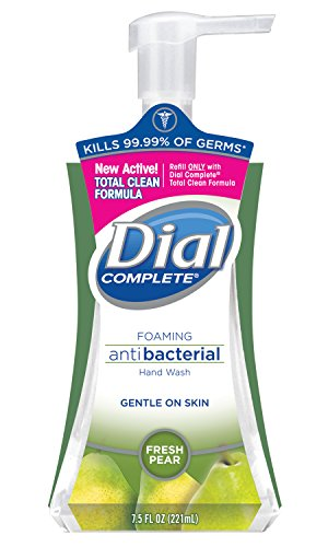 Dial 02934CT Antibacterial Foaming Hand Wash, Fresh Pear, 7.5oz Pump Bottle (Case of 8)