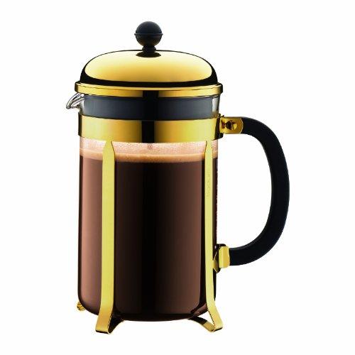 Bodum Chambord French Press Coffee Maker 12 Cup Gold 1.5 L , 51 Oz by Bodum