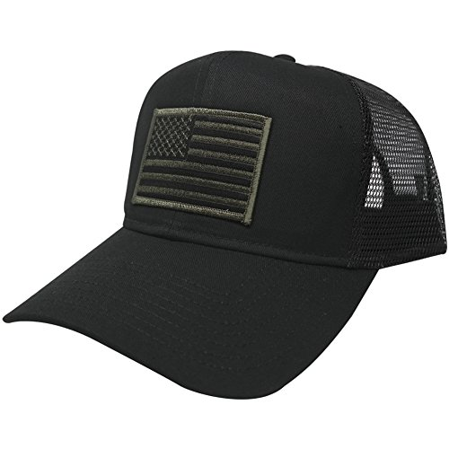 AC Racing USA American Flag Patch Snapback Trucker Mesh Cap - Black - Buy  Online in Oman.  4e6e06cde58c