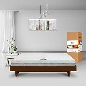 Insleep Memory Foam 6-inch King Size Mattress (78x72x6 Grey & White Anti-Bacterial Fabric) in a Box 2 41q5 tCAQvL. SS300