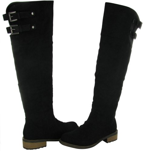 Hot Fashion Relax 39 Women's Riding Boots Faux Leather Knee High