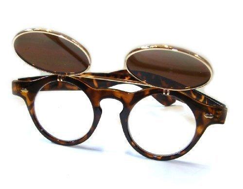 Effet Lunettes plantation taille rond à rétro soleil rabattable lunettes Écaille nbsp;de Lunettes nbsp;vintage steampunk TM style 4260018840784 unique de de Le caoutchouc tortue 1950 BqTSxPU5